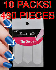 10 packs -480 pieces- French Manicure Nail Art Tips Form Guide Sticker Stencil 2