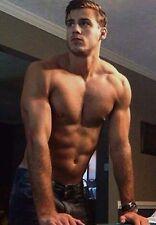 Shirtless Male Beefcake Briefs Backwards Cap Morning PHOTO 4X6 C735