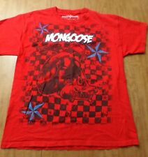 MONGOOSE PRO BICYCLES red tee youth XL kids T shirt BMX Bike extreme cycling ska