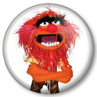 """Animal 1"""" 25mm Pin Button Badge TV The Muppets Show Sesame Street Crazy Drummer"""