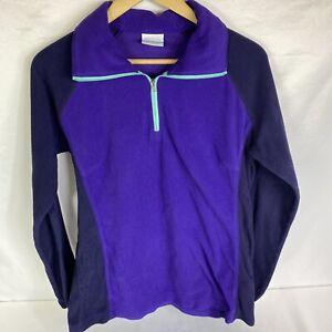 Columbia Women's Purple 1/4 Zip Fleece Pullover Size L