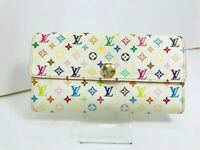 Auth LOUIS VUITTON M93532 Monogram Multicolor Sarah Wallet 57314143