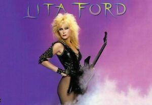 LITA FORD 80's Eighties Art Photo Poster  24 x 36 inch  1