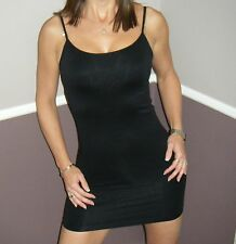 Very Sexy Seamless Cami Bodycon Scoop Neck Low Cut Slimming Mini Dress Black OS