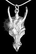 LOOK Dragon Skull Gothic Pendant Charm Sterling Silver .925