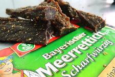 """Biltong  """" Meerrettich / Kren Stix""""  100 g Packung! 40,- €/Kg"""