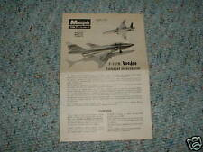Monogram Plastik P401 F-101B Voodoo Instructions  A.