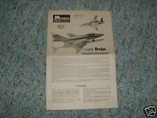 Monogram Plastik P401 F-101B Voodoo Instructions A.
