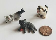 Vintage Miniature Dollhouse Cat Dog Lot