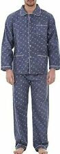 Mens Cotton PJ Pyjama Set PJ's Pyjamas Cotton Flannel Traditional Sizes M-2XL