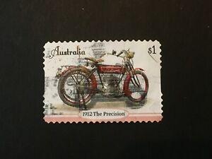 2018 AUSTRALIA VINTAGE MOTORCYCLES $1 THE PRECISION 1912 ADHESIVE - USED