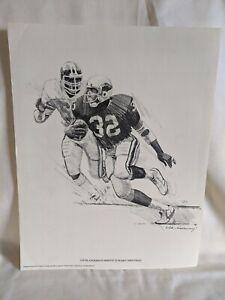Ottis Anderson NFL 1981 Shell Oil Print