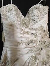 YSA Makino Silk White Ivory Wedding Gown Size 10