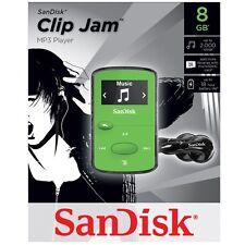 NEW SanDisk Sansa Clip Jam 8GB GREEN MP3 Player FM Radio Music USB MicroSD Slot