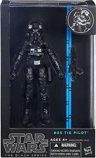 "Star Wars Black Series 6"" Inch Figure #05 Tie Pilot Authentic Hasbro Sealed New"