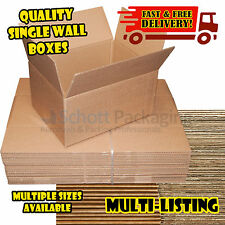 SINGLE WALL QUALITY  POSTAL MAILING  NEW CARDBOARD BOXES - MULTILISTING
