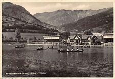 4792) BARDONECCHIA (TORINO) LIDO LITTORIO, ANIMATA, CANOE, VIAGGIATA NEL 1942.