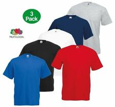 Fruit of the Loom Patternless Regular Size T-Shirts for Men