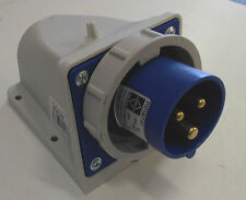 16 Amp Mounted Plug waterproof IP67 Lewden PM16/741             Location eBox 16