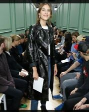 Alexa Chung for M&S pvc Trench Coat sold out classic size 10 black bnwt