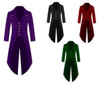 Men Steampunk Tailcoat Jacket Golden Buttons three Colors Goth Victorian VTG