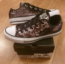 Converse Chuck Taylor Womens All Star Ox Sequin Converse Size 3 Exc cond