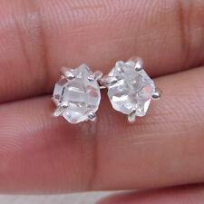 Herkimer Diamond Stud, 925 Sterling Silver Herkimer Diamond stud Earring-S449