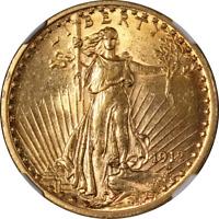 1912 Saint-Gaudens Gold $20 NGC MS61 Great Eye Appeal Nice Strike