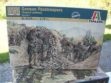 1/72 MILITAIRE WWII 48 Figurines SOLDATS PARACHUTISTES ALLEMANDS 6134
