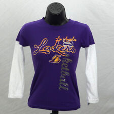 Los Angeles Lakers Shirt Girls XS (4 - 5) Purple Longsleeve T-Shirt New ST220