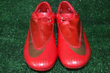 RARE RED NIKE MERCURIAL VAPOR IV  FOOTBALL BOOTS CLEATS  SIZE 6 MADE IN ITALY