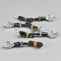 4x Black Motorcycle ATV Mini LED Turn Signal Indicator Light Amber Universal 12V