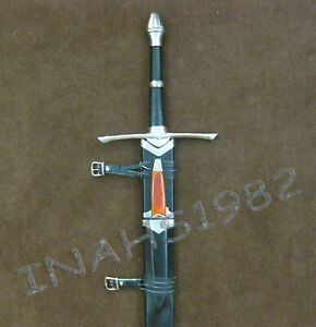 Aragorn Strider Sword with knife from LOTR+Wall Plaque