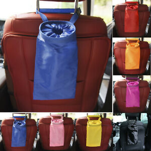 Portable Car Trash Can Garbage Holder Bin Bag Organizer for Vehicles Universal *