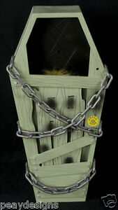 Gemmy Animated Coffin Screamer Zombie Ghost Undead Halloween Display SEE VIDEO