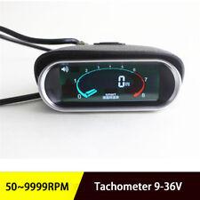 LCD Digital Engine RPM Tach Tachometer For Boat Car Truck Racing  Universal