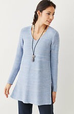 NEW J. Jill  Pure Jill Cotton/Linen Blend Textured Tunic, S may fit M