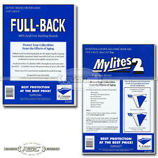 50 - Full-Back & Mylites 2 Silver & Golden Mylar Comic Bags & Boards by Gerber