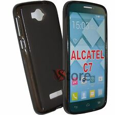 Cover Custodia Per Alcatel C7 One Touch Pop 7040D Gel Nero T + Pellicola