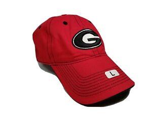 Georgia UGA Bulldogs Unisex Adult Adjustable Red Cap Hat W/ Georgia G Logo NWOT