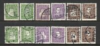 Denmark 1924 Danish Post Anniversary Both Sets Nice Used Cat £90+ SG218A-223B