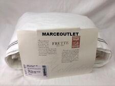 Frette Hotel Classic Cotton Percale King Sheet Set White / Gray