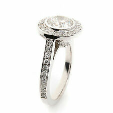 2.00 Ct. 18k White Gold Ladies Diamond Round Cut Engagement Ring