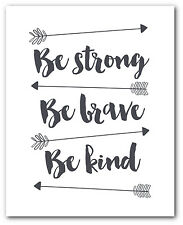 Be Strong Nursery Print, Tribal Arrow art, 8 x 10 Inches, Unframed