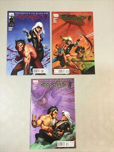 Claws II 1-3 Complete Set 1 2 3 Marvel Comics 2006 (CL01) Wolverine Black Cat
