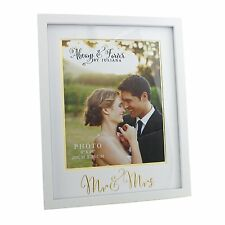 "Always & Forever Bianco Matrimonio 8"" x 10"" CORNICE Mr & Mrs wg72480"