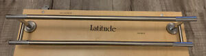 "20"" Gatco Latitude Chrome Satin Nickel over Solid Forged Brass 4204 Towel Bar"