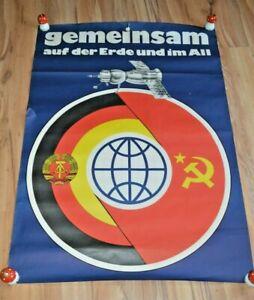 schönes altes Plakat Propaganda DDR Sigmund Jähn Weltraumflug