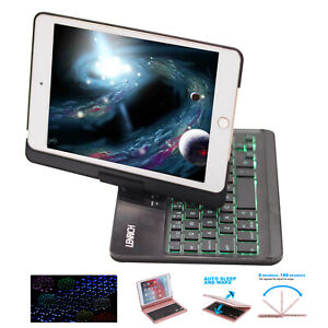Backlit 7.9 rotatable case keyboard For iPad Mini 4th, new iPad Mini 5th 2019