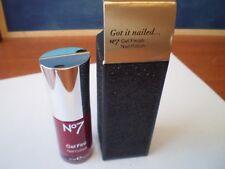 Boots No 7 Gel Finish Nail Polish 10ml - Deep Wine with box